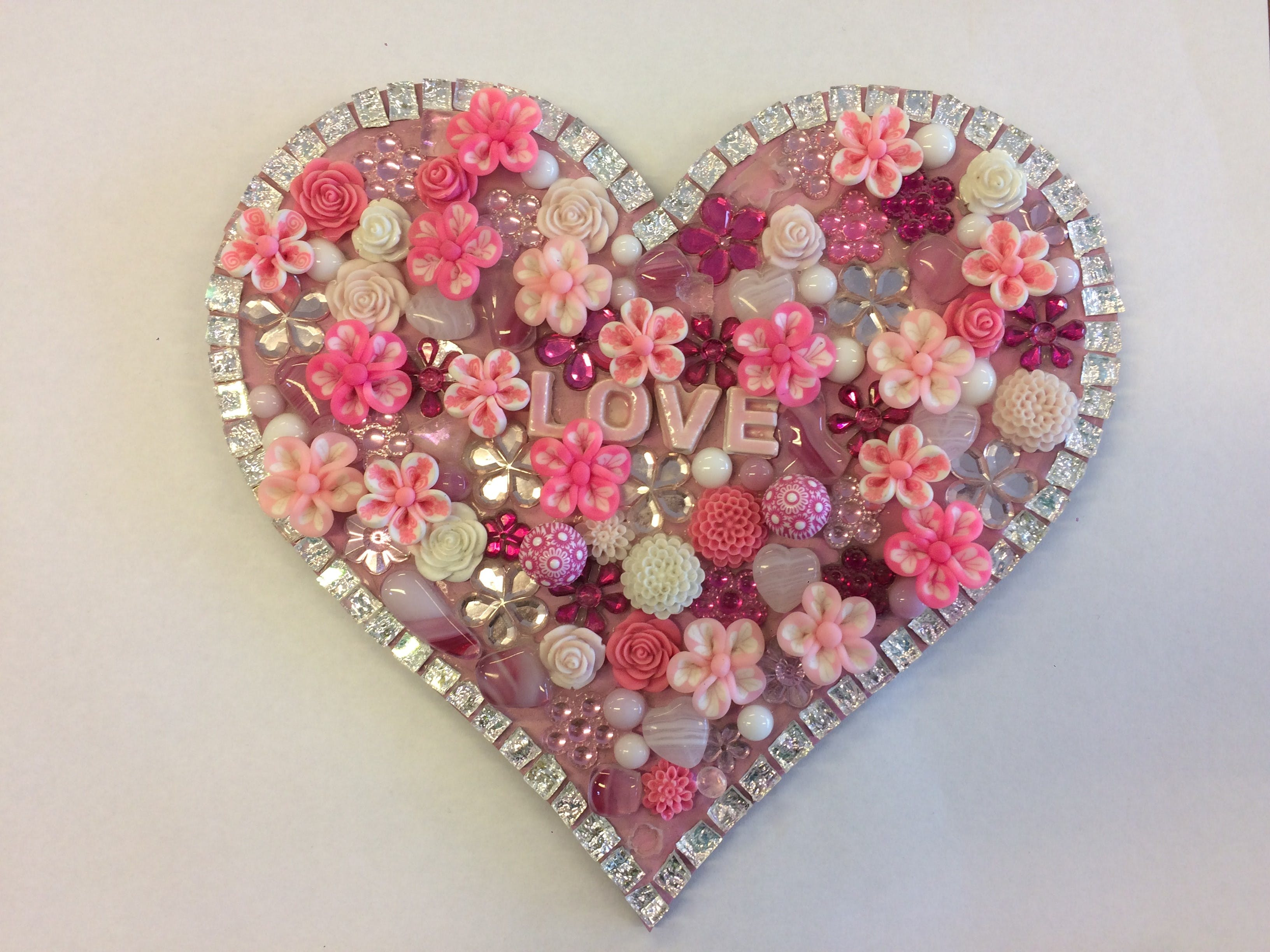 Flowers and Bling Mosaic Class for Kids - Restaurant Find