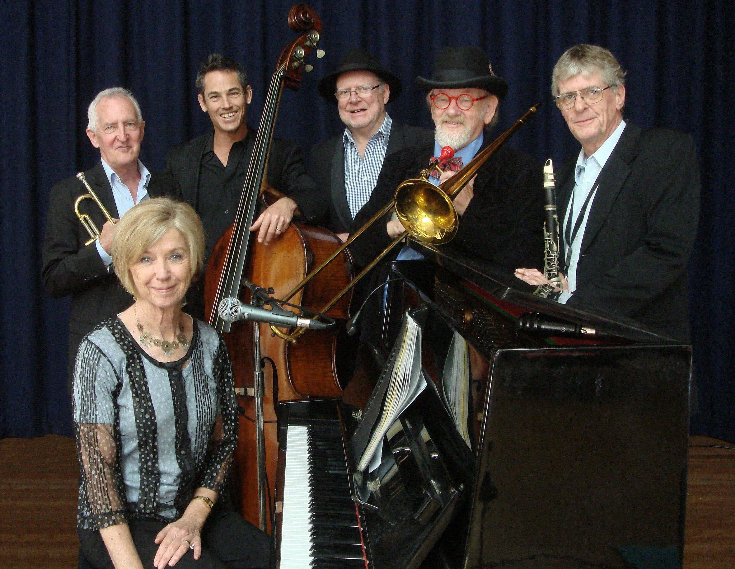 The Caxton Street Jazz Band in the Swigmore Hall at Robert Channon Wines - Restaurant Find