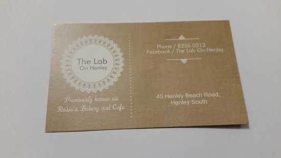 The Lab On Henley - Restaurant Find